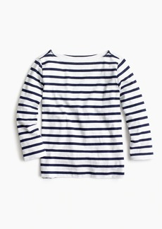 J.Crew Girls' striped boatneck T-shirt
