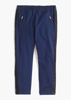 J.Crew Girls' sweatpants with glitter tux stripe