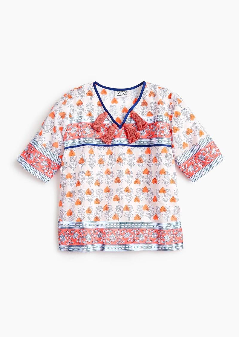 1eb8acca3d6 J.Crew Girls  SZ Blockprints™ for crewcuts tassel-trimmed top in orange