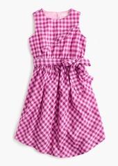 J.Crew Girls' tie-front dress in violet gingham