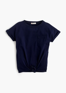 J.Crew Girls' tie-front T-shirt
