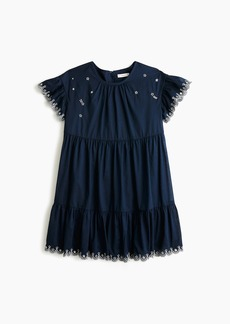 J.Crew Girls' tiered dress with stars