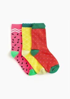 J.Crew Girls' trouser socks three-pack