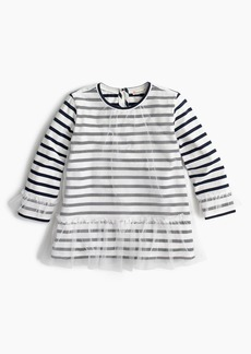 J.Crew Girls' tulle-covered tunic