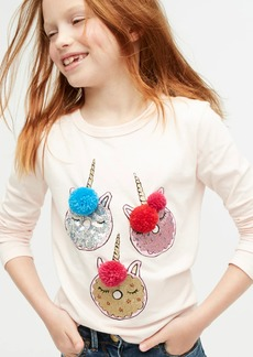 J.Crew Girls' unicorn donut long-sleeved T-shirt