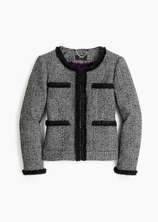 J.Crew Glen plaid lady jacket with braided trim