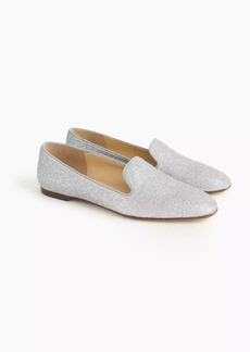 J.Crew Glitter smoking slippers