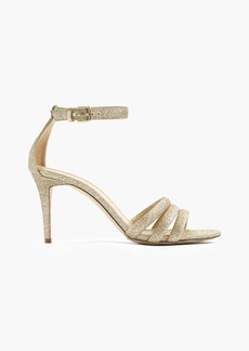 J.Crew Glittery ankle-strap sandals