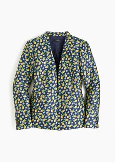 J.Crew Tall going-out blazer in lemon jacquard