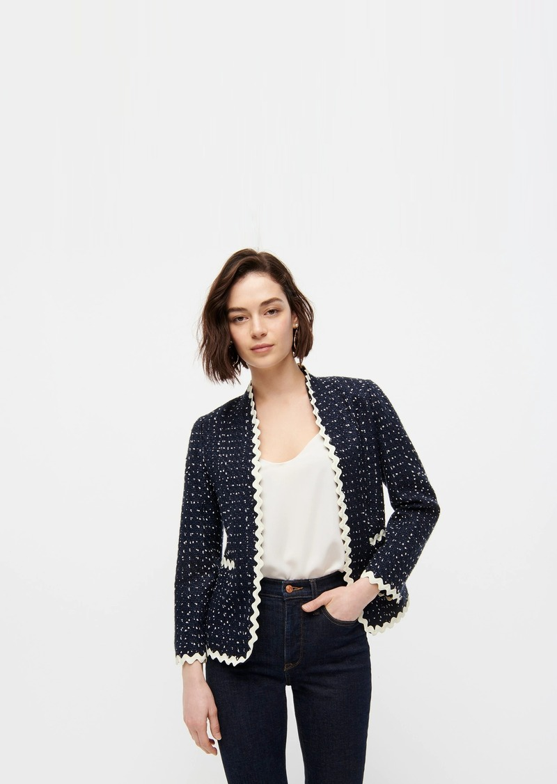 J.Crew Going-out blazer in navy spotted tweed