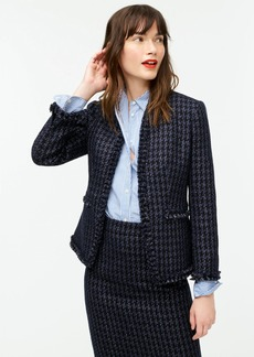 J.Crew Going-out blazer in shadow houndstooth print