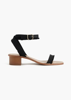 J.Crew Grosgrain ribbon block-heel sandals
