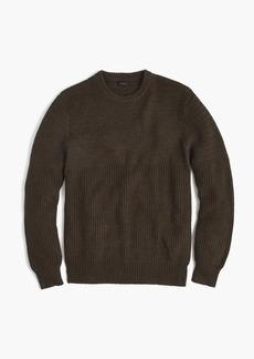 J.Crew Half-ribbed cotton crewneck sweater