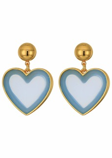 J.Crew Heart Drop Acetate Earrings