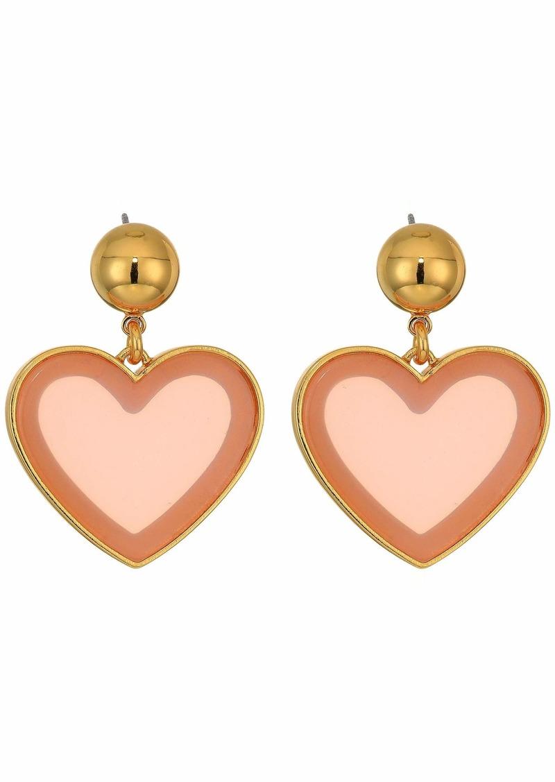 J.Crew Heart Drop Acetate Earrings