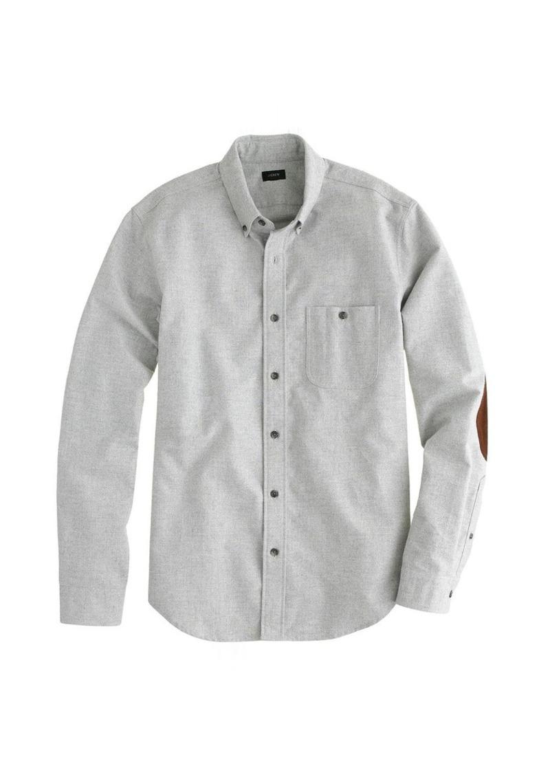 J.Crew Heathered chamois elbow-patch shirt