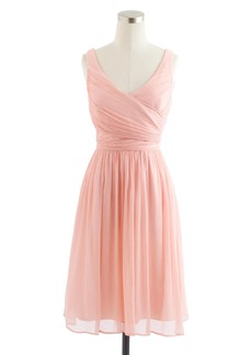 J.Crew Petite Heidi dress in silk chiffon