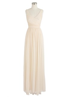 J.Crew Heidi long dress in silk chiffon