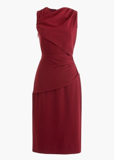 J.Crew High-neck drape sheath dress in lucky crepe