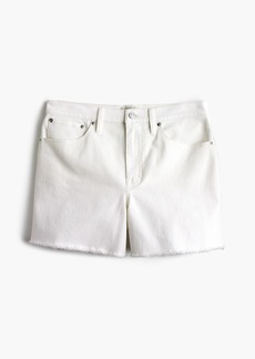 J.Crew High-rise denim short in white