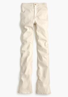 High-rise flare jean in ecru
