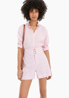 J.Crew High-rise triple-button stretch linen short
