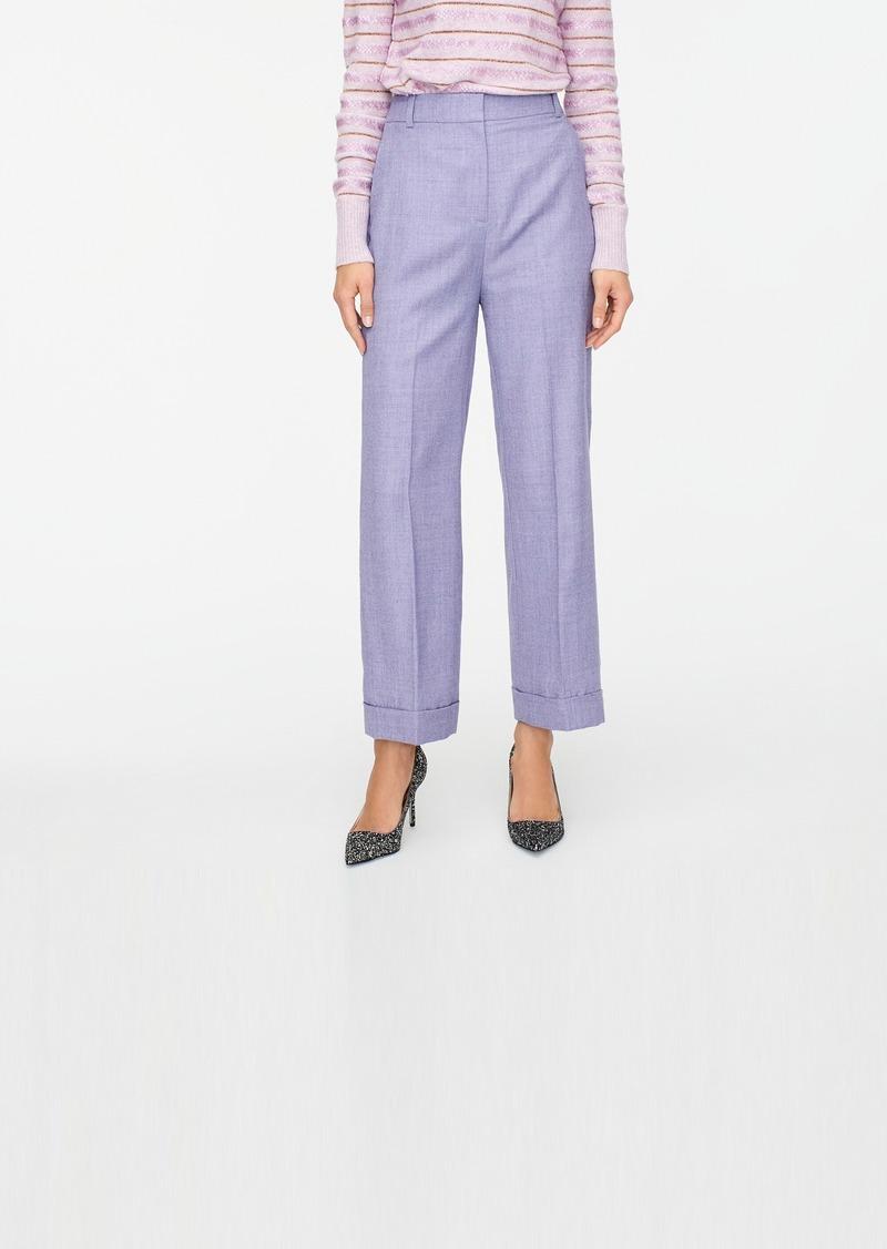 J.Crew High-rise wool-blend flannel trouser