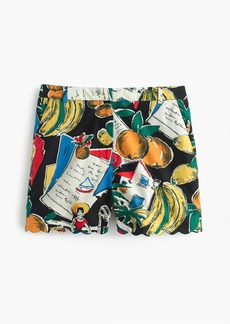 J.Crew High-waisted short in postcard print