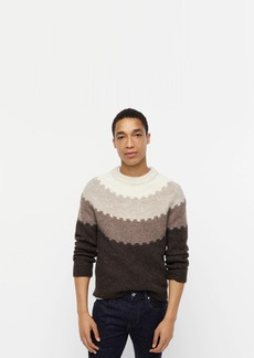 J.Crew Highland wool patterned crewneck sweater