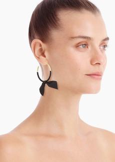 J.Crew Hoop earrings with ribbon tie
