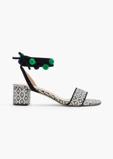 J.Crew Ikat ankle-wrap sandals