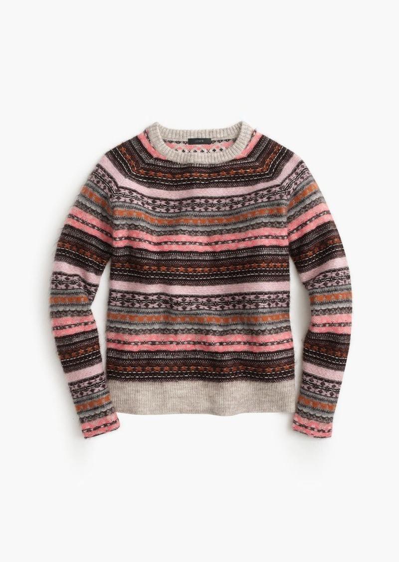 J.Crew Italian cashmere-blend Fair Isle sweater