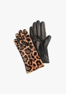 J.Crew Italian Calf Hair Touch Leather Tech Gloves