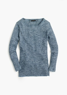 J.Crew Italian linen-blend ribbed crewneck sweater