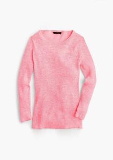J.Crew Italian linen-blend ribbed crewneck sweater