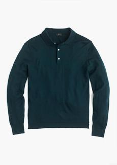 J.Crew Italian merino wool polo sweater