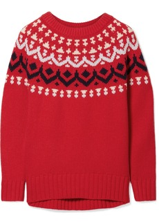 J.Crew Ivan Fair Isle Merino Wool-blend Sweater