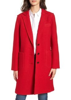 J.Crew Olga Boiled Wool Topcoat (Regular & Petite)