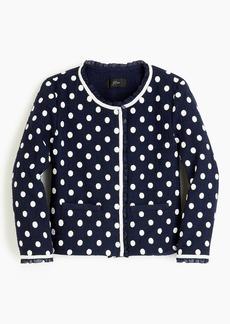 J.Crew Jacket in polka-dot textured tweed