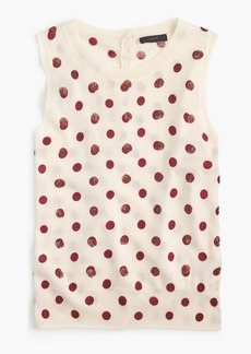 J.Crew Jackie sweater shell in sequin polka dot