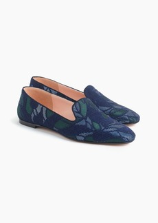J.Crew Jacquard smoking slippers