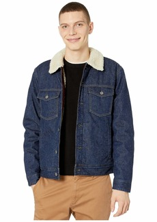 J.Crew Japanese Denim Trucker Jacket with Sherpa Collar and Eco-Friendly PrimaLoft®
