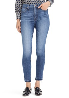 J.Crew 10-Inch Higher Rise Toothpick Eco Jeans (Bright Indigo Wash)