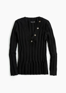 J.Crew 365 stretch ribbed henley sweater
