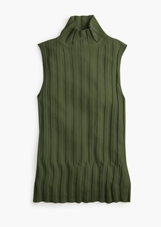 J.Crew 365 stretch sleeveless turtleneck ribbed sweater