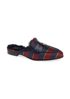 7cab5cb1a9f J.Crew Academy Loafer Mule with Faux Fur Lining