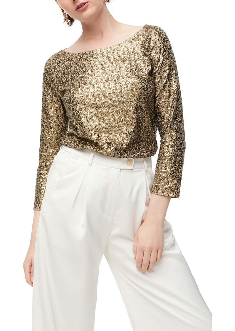 J.Crew Allover Sequin Long Sleeve Tee