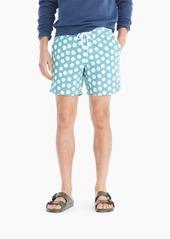 J.Crew Always swim trunk in polka-dot print
