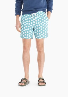J.Crew Always swim trunk in polka-dot print