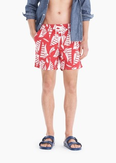 J.Crew Always swim trunk in sailing print